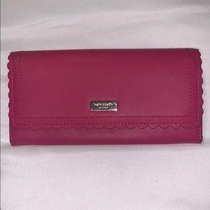 Kate Spade Cyndy Sweetheart Pink Scallop Wallet